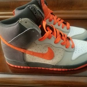 A pair of Nike shoes  .